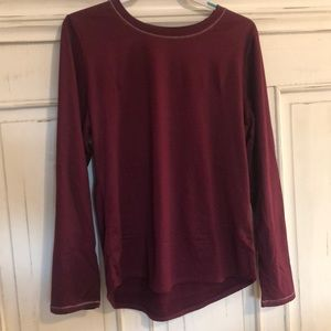 Plum Climate Right By Cuddle Duds Top